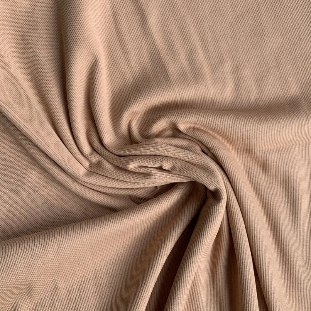 Solid sandstorm RIBBED knit cotton fabric family fabric