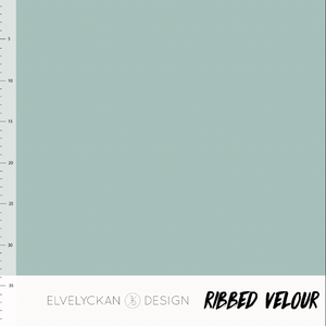 Dusty mint ribbed velour elvelyckan design