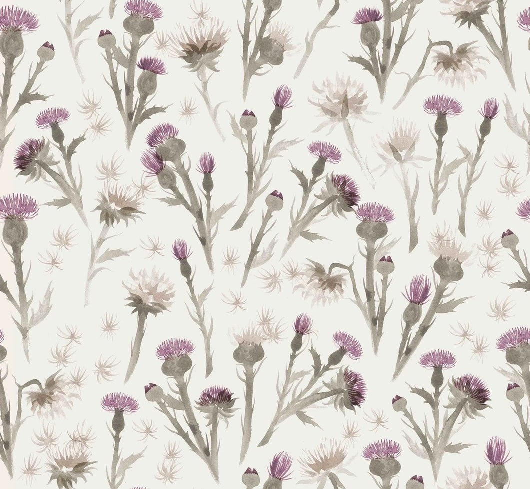 Thistles cotton jersey knit fabric family fabric