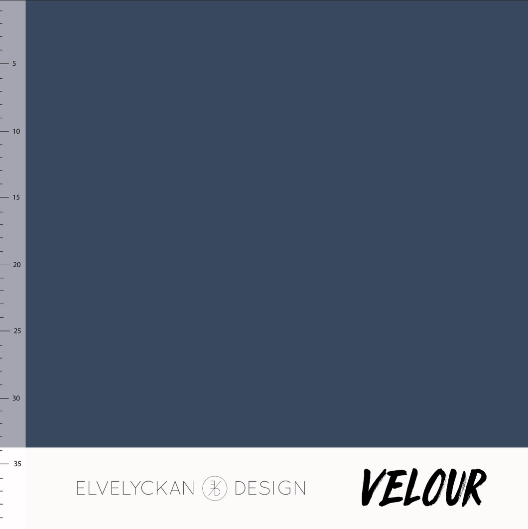 Dark blue velour elvelyckan design