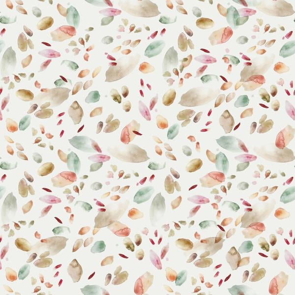 Abstract leaves cotton jersey knit fabric family fabric