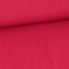 Solid red organic cotton jersey knit fabric