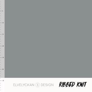 Gray RIBBED knit cotton fabric elvelyckan design