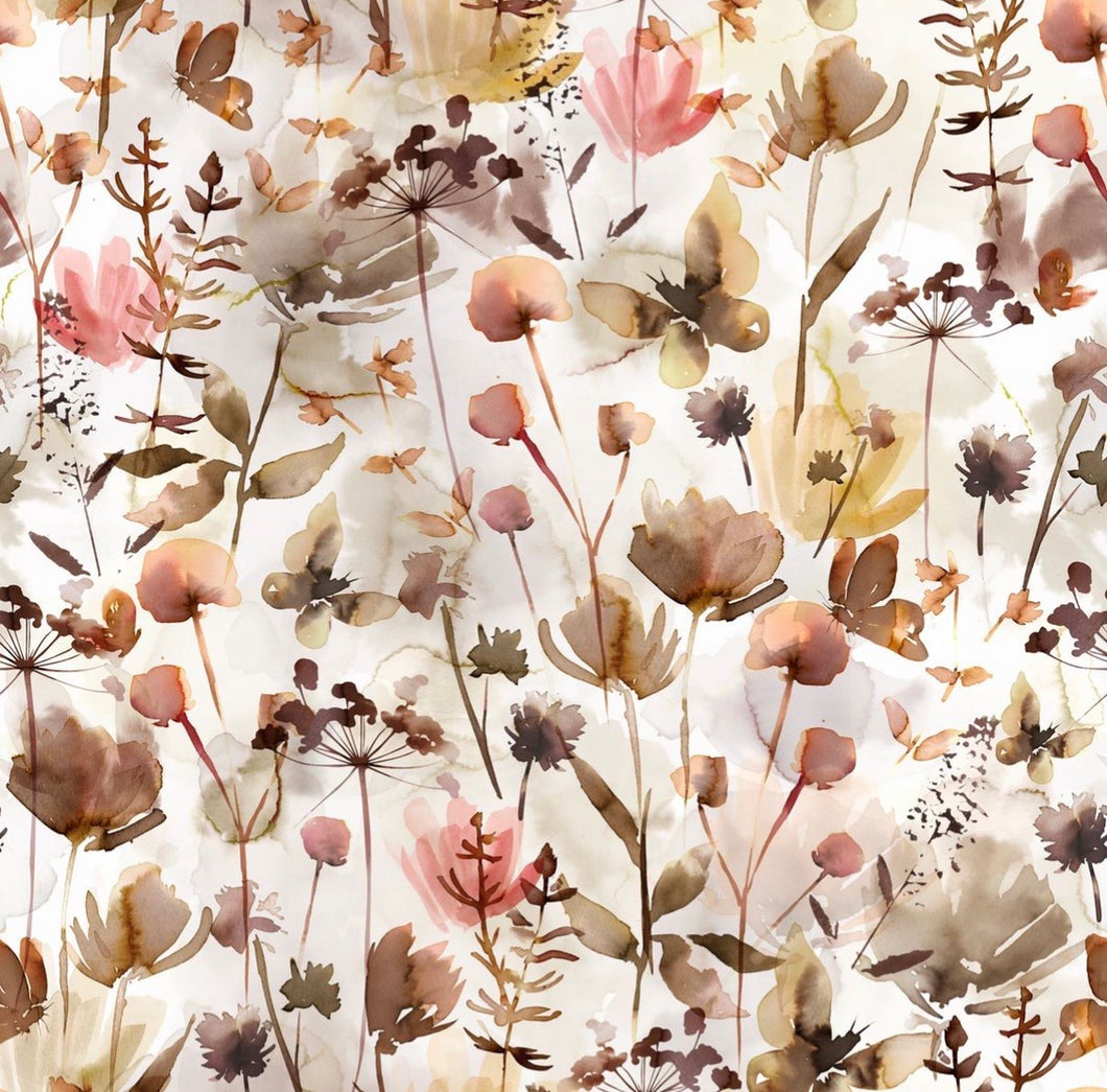 Wild flowers cotton jersey knit fabric family fabric