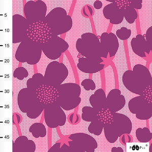 Buttercup in purple and pink organic cotton jersey knit fabric