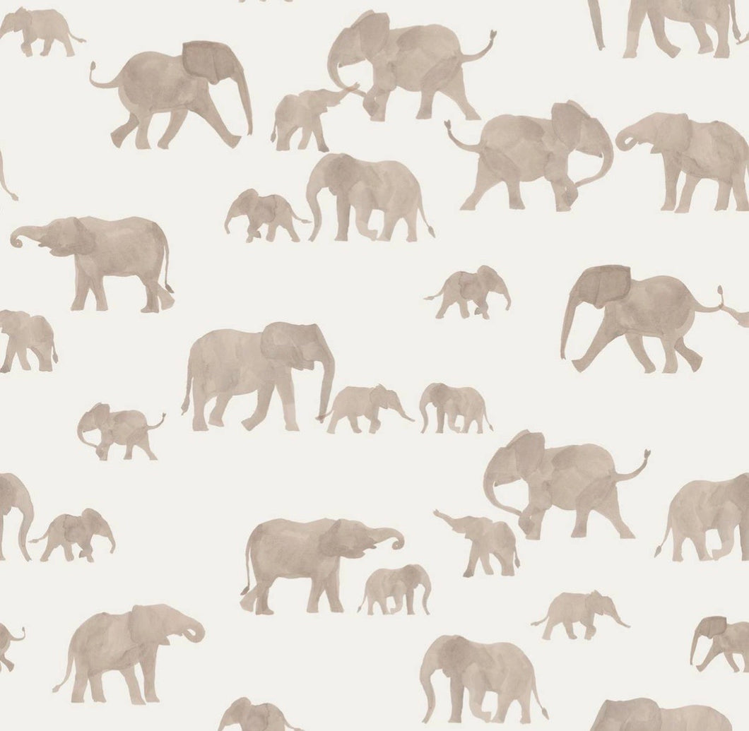 Elephant cotton jersey knit fabric family fabric