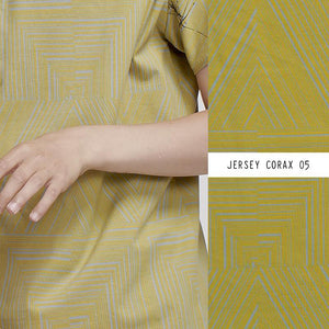 Corax in yellow cotton jersey knit fabric