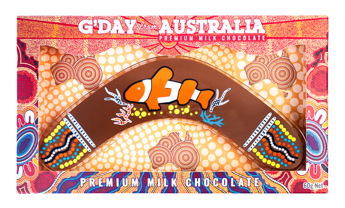 chocolate boomerang souvenir gift clown fish