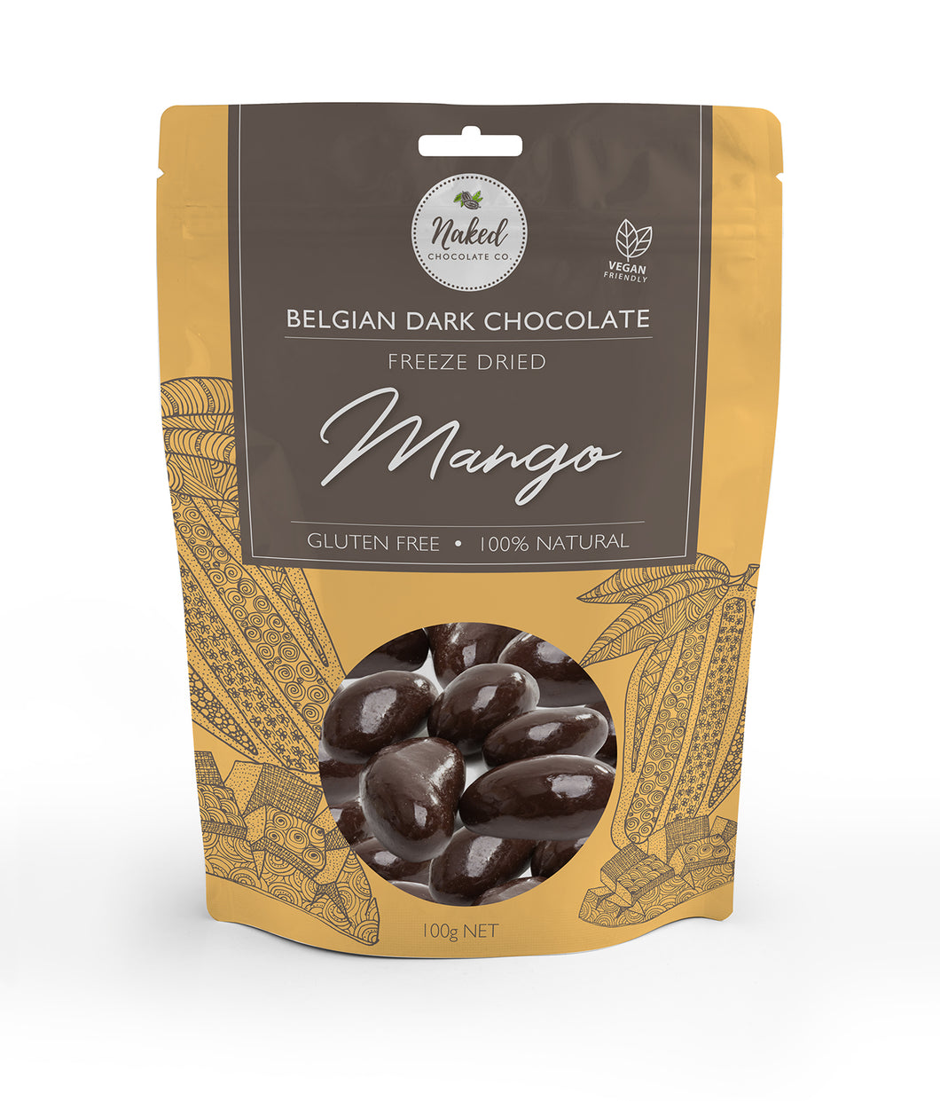 Dark Chocolate Freeze Dried Mango - 100g