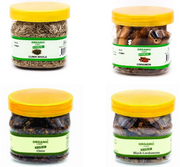 Combo Pack of  Cumin Seeds 100 g Clove 75 g Cinnamon 50 g Black Cardamom Whole 50 g - 275 Grams - Organic Cart