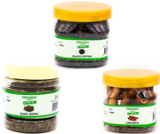 Combo Pack of Black Pepper 75 G Shah Jeera 60 G Cinnamon 50 G - 185 Grams - Organic Cart
