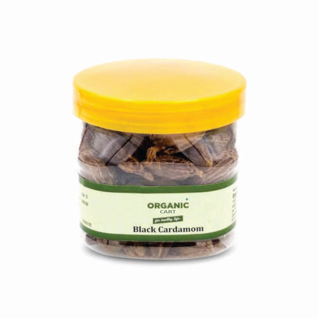 Organic Cart Natural Black Cardamom Whole/बड़ी इलायची - Organic Cart