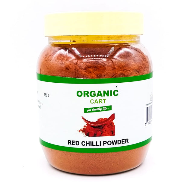 Combo Pack of Red Chilli Powder Kuti 250 g Degi Mirch Powder 250 g Red Chilli Powder 250 g - 750 Grams - Organic Cart