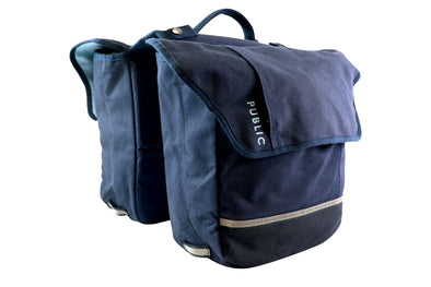 PUBLIC Urban Double Pannier - Navy Blue