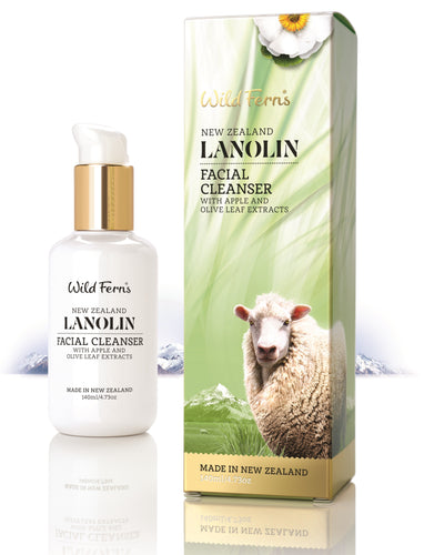 Lanolin Facial Cleanser with Apple and Olive Leaf Extract 140ml (LAFC)