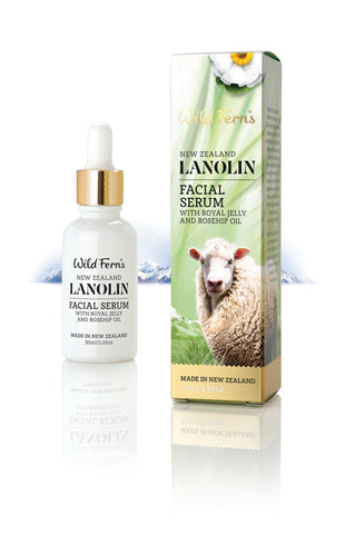 Lanolin Facial Serum with Royal Jelly and Rosehip Oil 30ml  (LAFSE)