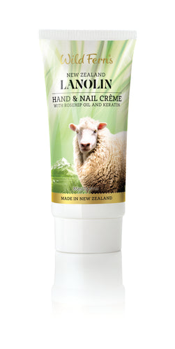 Lanolin Hand and Nail Conditioning Crème with Rosehip and Keratin 85ml (LAHN)