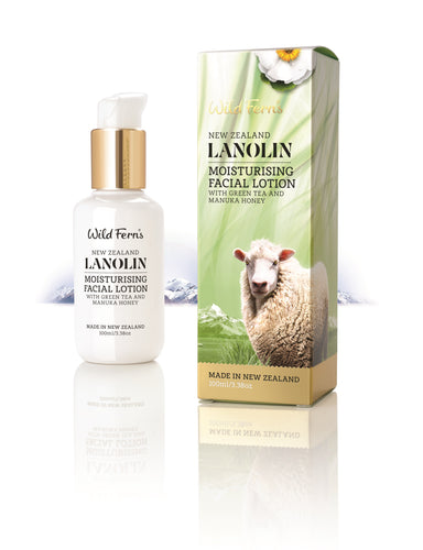 Lanolin Moisturising Facial Lotion with Green Tea and Manuka Honey 100ml (LAMFL)