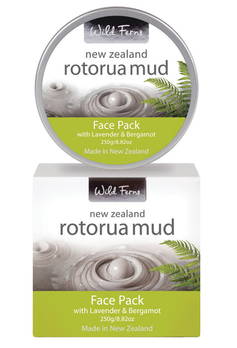 Rotorua Mud Face Pack with Lavender & Bergamot 250g  (RMFPP)