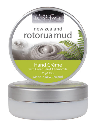 Rotorua Mud Hand Crème with Green Tea & Chamomile 85g  (RMHC)