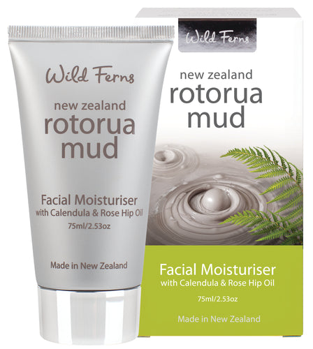 Rotorua Mud Facial Moisturiser with Calendula & Rose Hip Oil 75ml  (RMMS)