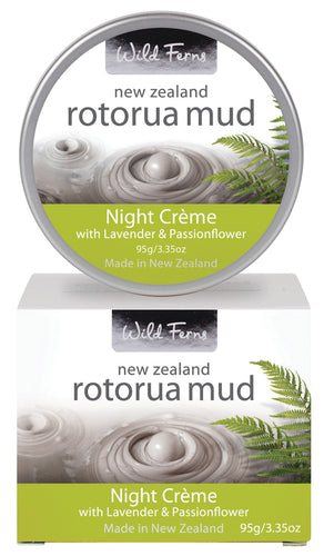 Rotorua Mud Night Crème with Lavender & Passionflower 95g  (RMNC)