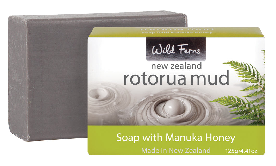 Rotorua Mud Soap with Manuka Honey wrapped 125g  (RMSH)