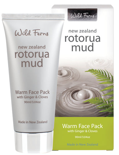 Rotorua Mud Warm Face Pack with Ginger & Cloves 90ml  (RMWFP)