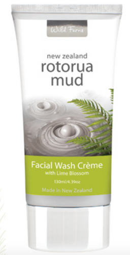 Rotorua Mud Facial Wash Creme with Lime Blossom 130ml (RMFW)