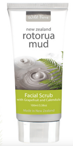 Rotorua Mud Facial Scrub with Grapefruit & Calendula 100ml (RMFS)