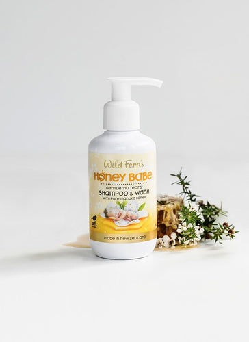 Honey Babe Shampoo & Wash No Tears 140ml (HOBSW)