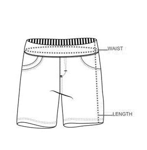 Girl's Shorts Pants Size Measurements