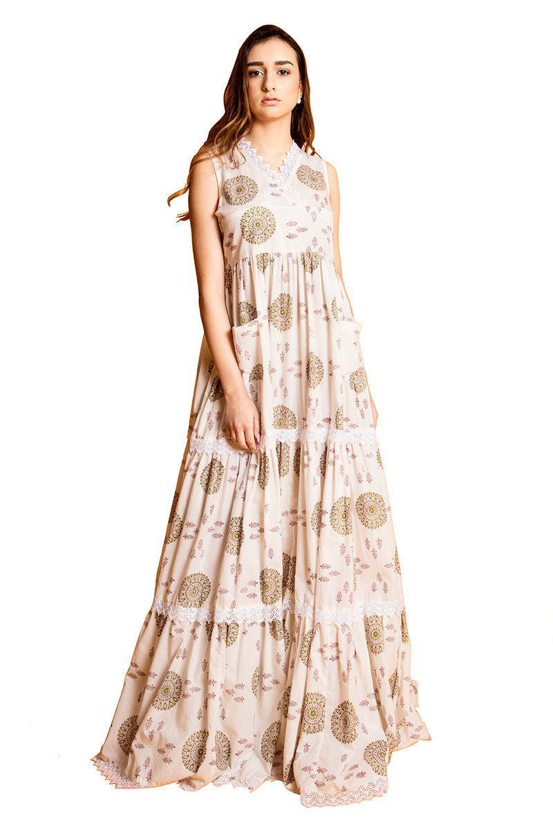 White Maxi Dress - War Wheel