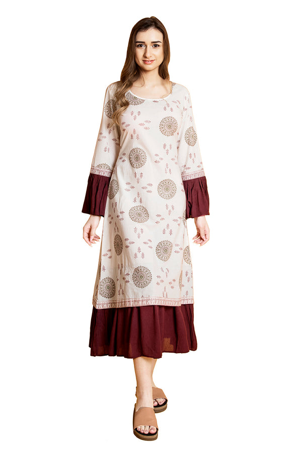 White Maxi Dress - War Wheel and Block