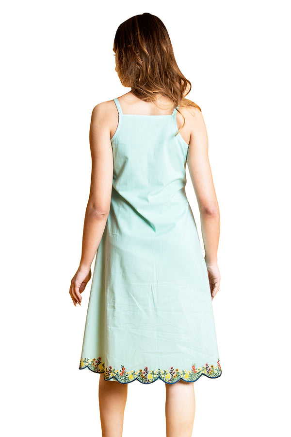 Green Dress - Japanese Garden Tunic