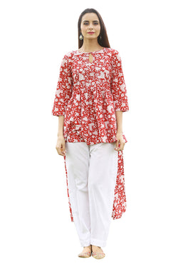 Red Kurti - Tsunami High-Low