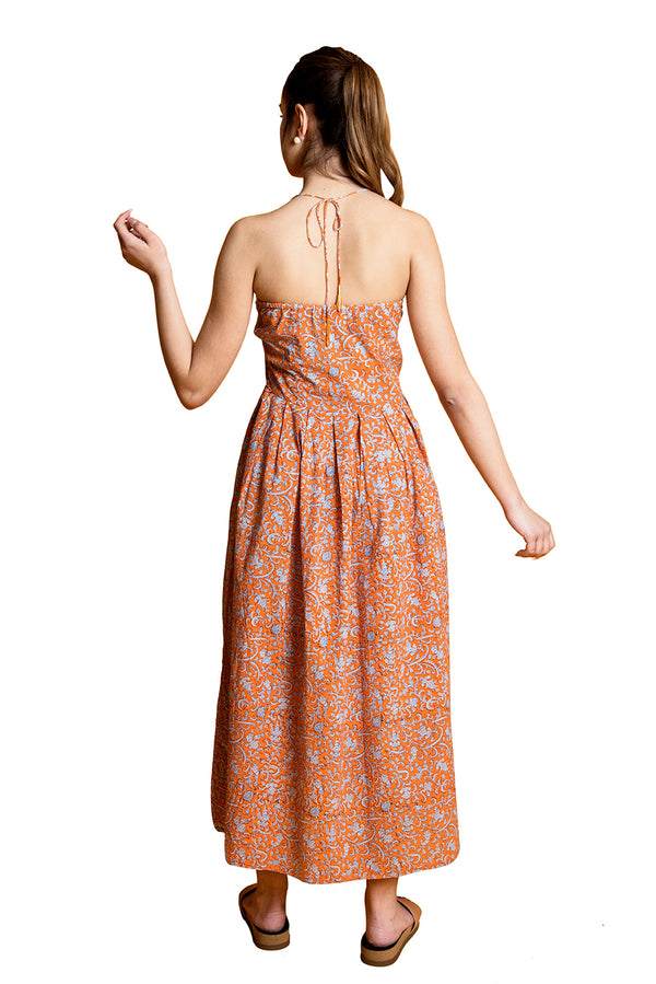 Orange Dress - Tsunami Halter