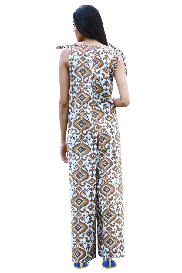 Brown Jumpsuit - Kaleidoscope Long
