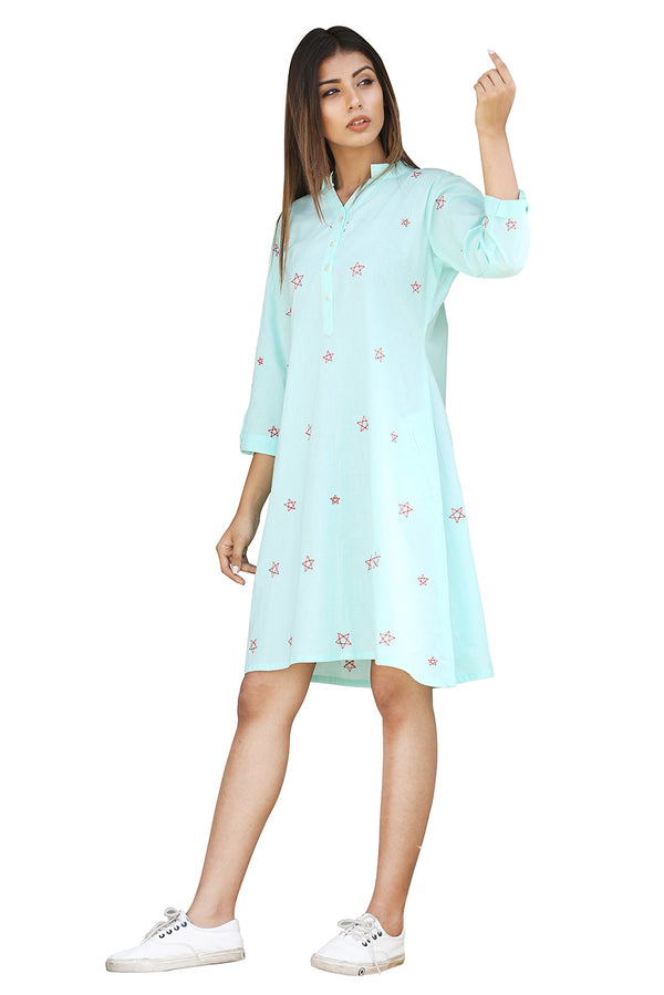 Blue Dress - Constellation Blouse