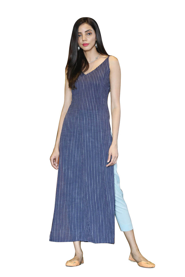 Blue Kurti - Midnight Stripes Strap