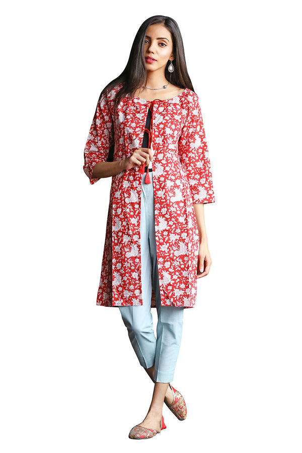 Red Top Kurti - Tsunami