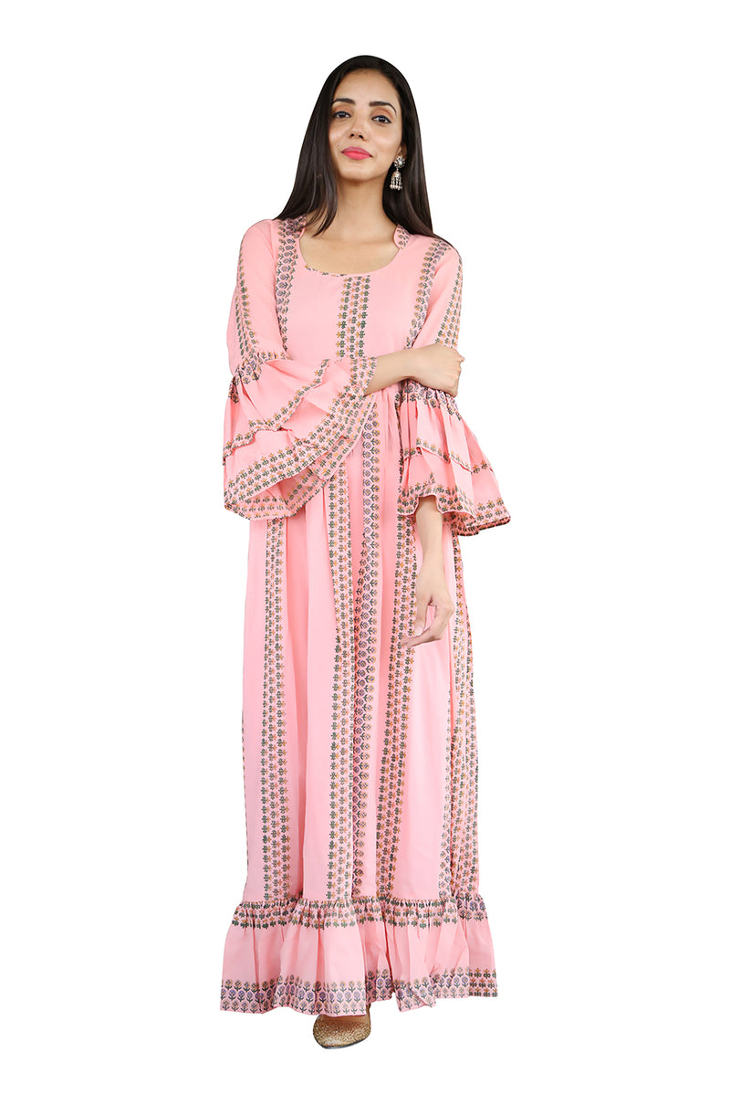 Pink Maxi Dress - Vertical Garden
