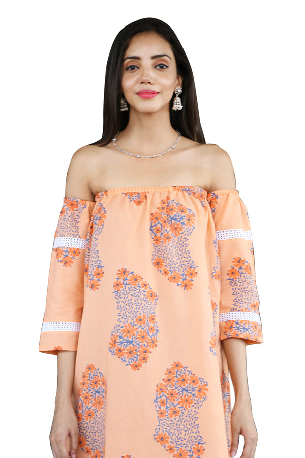 Orange Top - Daisy Off Shoulder