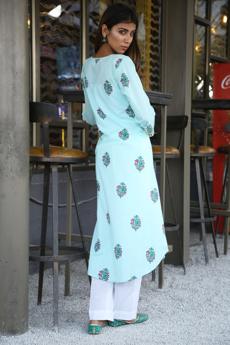 Green Kurti - Orchid Long Straight Cut