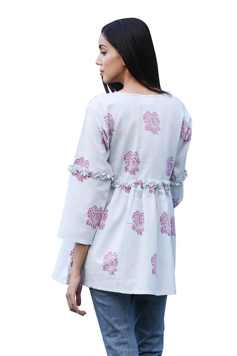 Blue Kurti - Chinese Cabbage Indo-Western