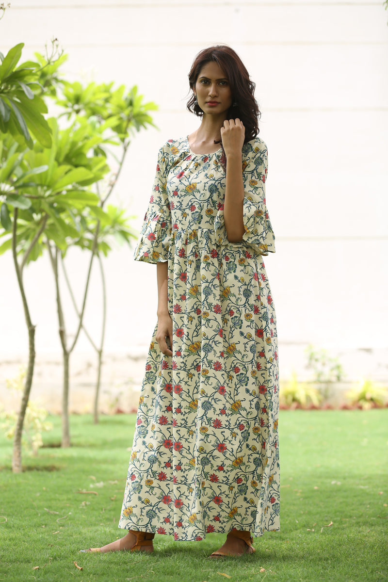 Multicolored Maxi Dress - Floral Bed