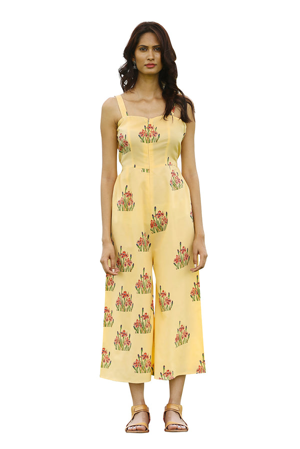 Beige Jumpsuit - Floral Farm Long