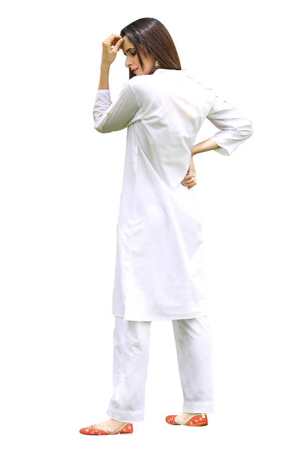 White Kurti - Political Essence Shirt Style