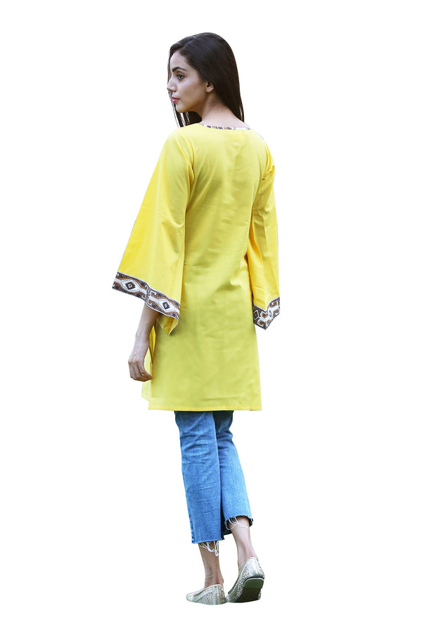 Yellow Kurti - Heart in My Pocket Indo-Western