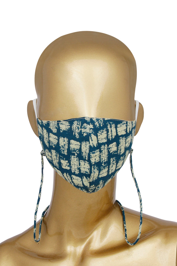 Blue Face Mask - Batik